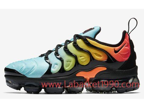 promo code 69b45 2fdd2 Nike Air VaporMax Plus AO4550-002H Chaussures Nike Prix Pas Cher Pour Homme  Noir Vert Bleu-Achetez en ligne les articles signés Nike.