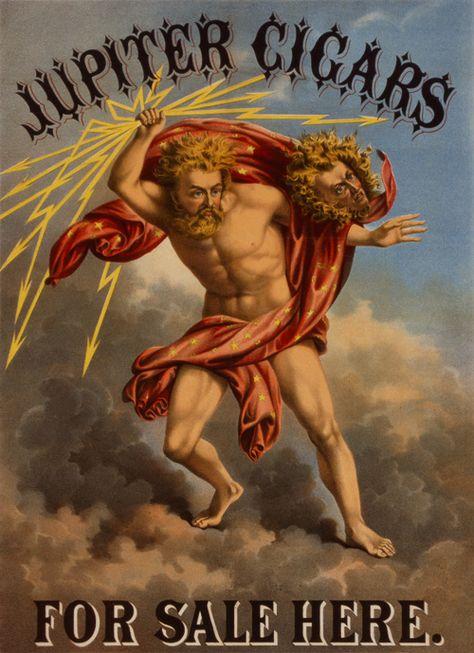 JUPITER CIGARS On Sale Here Vintage Repro ADVERTISEMENT Art Print Posters 18x24