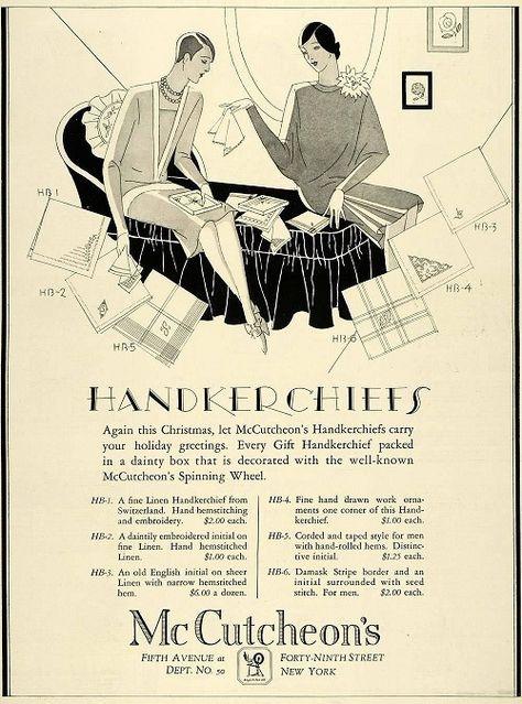 Image result for ladies handkerchief ads 1930s