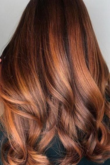 14 Copper Highlights Hair Colours To Inspire 2019 Long Hair