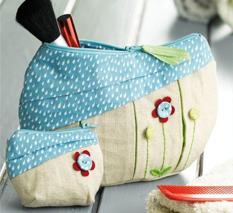 """Kulturtaschen aus """"Tolle Geschenke selbst genäht"""" von Miriam Dornemann"""