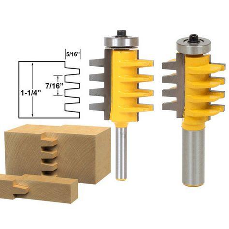 "Reversible Finger Joint Glue Joint Router Bit 1//2/"" Shank Carpentry"