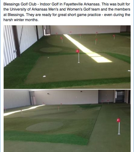 Indoor Golf Practice Room At Blessings Golf Club In Fayetteville, AK. If  You Had Access To Year Round Practice Like The University Of Arkansas Men U2026