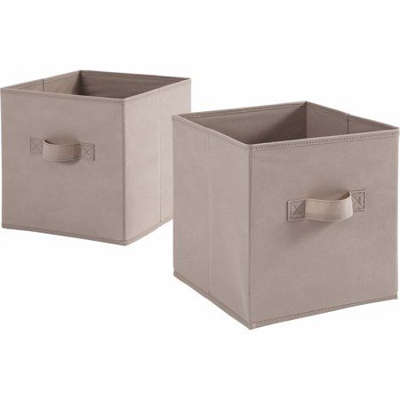 Mainstays 11 High Collapsible Storage Bin Brownstone Primitivediningrooms Fabric Storage Cubes Collapsible Storage Bins Cube Storage