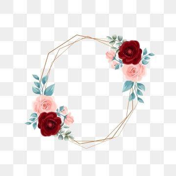 إطار الذهب مع تصميم زهرة المائية حفل زواج دعوة زفاف ذهب Png وملف Psd للتحميل مجانا Free Watercolor Flowers Watercolor Flowers Vector Flowers
