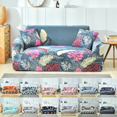 Advertisement 1 4 Seater Sofa Slipcover Stretch Protector Floral Couch Cover Washable Easy Fit Couch Covers Floral Couch Slipcovered Sofa