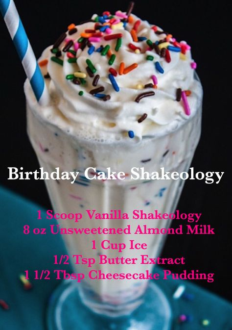 Birthday Cake Shakeology made with Vanilla Shakeology