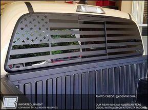 Custom American Flag Rear Window Decal Choose Your Size Truck