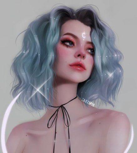 20 Ideas For Digital Art Hair Eyes Illustration Art Drawing Digital Art Illustration Brown Hair Green Eyes