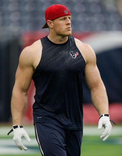 Watt Photos - J. Watt of the Houston Texans warms up before playing a preseason game against the San Francisco at Reliant Arena at Reliant Park on August 2015 in Houston, Texas. - San Francisco v Houston Texans
