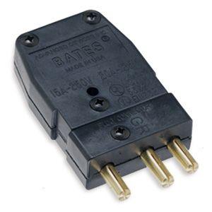 Bates Stage Pin Plug Male Black Cover Black Cover Bates Plugs