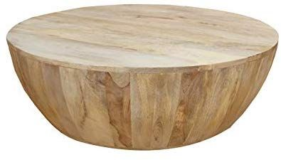 Amazon Com The Urban Port Coffee Table In Round Shape With Distressed Finish Home Kitchen Coffee Table Wood Mango Wood Coffee Table Round Wood Coffee Table