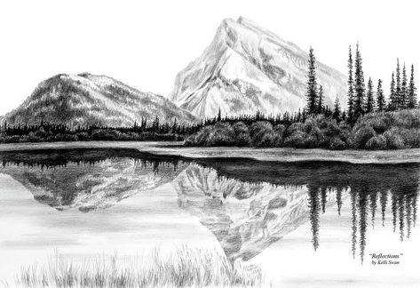 Paesaggio Di Montagna Disegno.Drawing Landscape Cerca Con Google Paesaggio Di Montagna