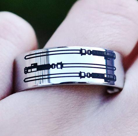 Light Saber Wedding Band, Star Wars Wedding Band, Star Wars Ring for Men, Light Saber Jewelry