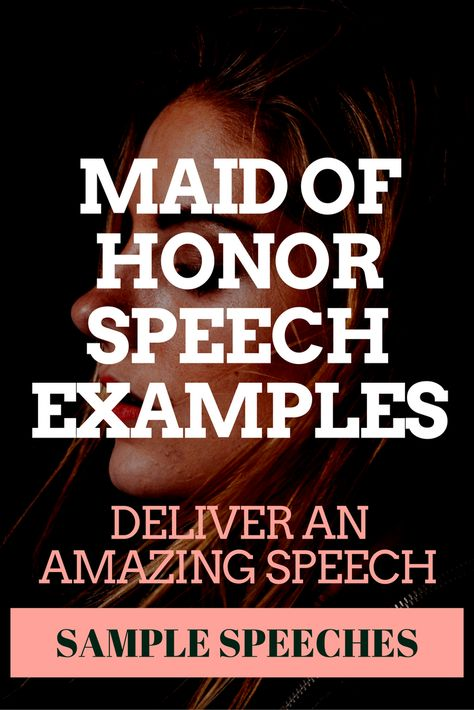 Maid of Honor Speech Example - Weddingbee words to live by - example speech