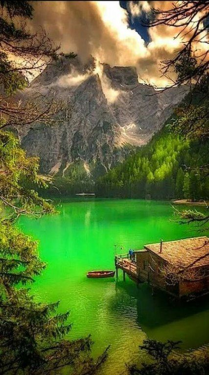 House Lake Mountain Beautiful 19 Best Ideas Nature Pictures Scenery Beautiful Landscapes