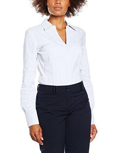 e6bf744dc0 More & More Damen Bluse Billa Weiß (White 0010) 42. Klassische  Businessbluse von