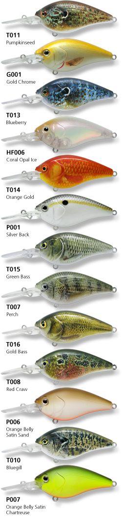 Custom painted 2.5 dd crank bait fishing bass pike crappie bluegill minnow