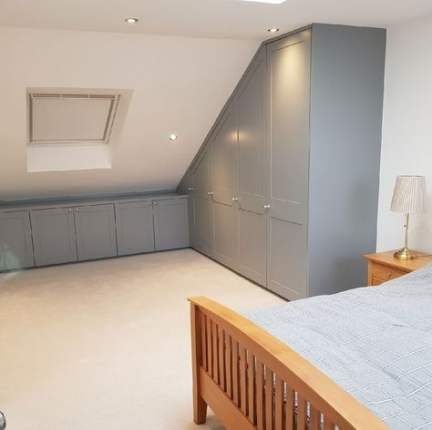 Bedroom Storage Wall Slanted Ceiling 37 Best Ideas Attic House Attic Wardrobe Attic Rooms