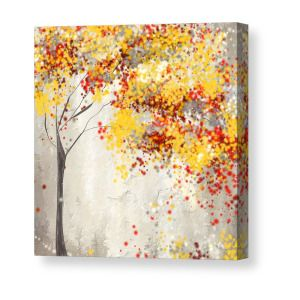 Yellow Gray And Red Canvas Print Canvas Art By Lourry Legarde With Images Red Painting Yellow Painting Grey Canvas Art