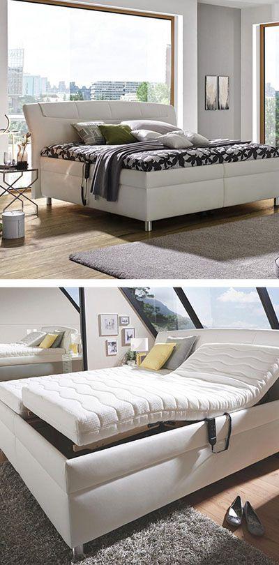 Weisses Doppelboxspringbett Mit Silbernen Beinen Bett Betten Kaufen