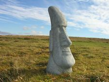 A Large Easter Island Head Stone Concrete Garden Statues Ornaments