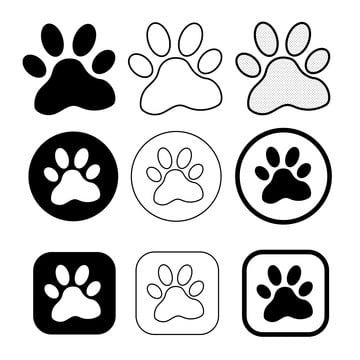 Simple Animal Paw Print Icon Sign Paw Clipart Animal Icons Simple Icons Png And Vector With Transparent Background For Free Download Animal Icon Paw Print Free Vector Illustration