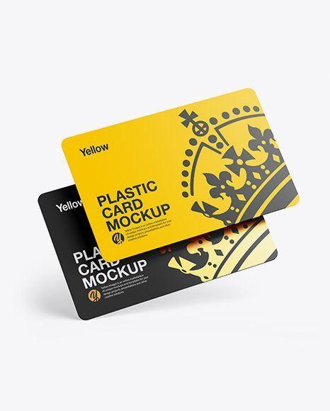 Credit Card Creative Credit Card Mockup Two Plastic Cards Mockup