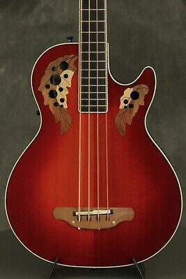 1989 Ovation Viper Acoustic Electric Bass Eab68 Cherryburst Ebay Acoustic Bass Guitar Acoustic Electric Ovation Guitar