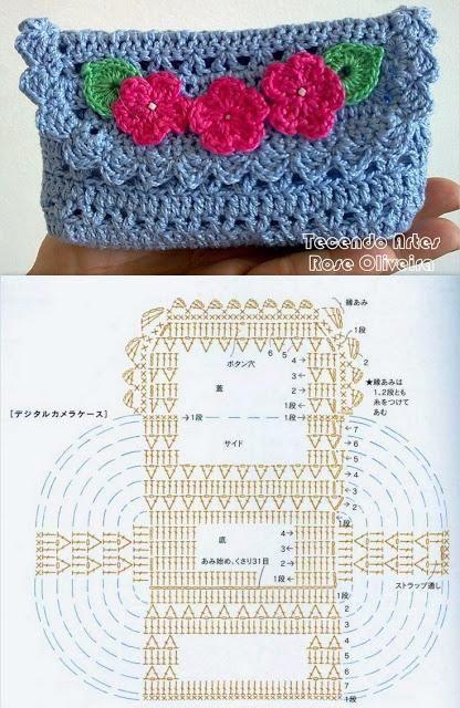Accessori Uncinetto Schemi.Borse E Pochette Fai Da Te 8 Schemi Crochet Gratis Con Immagini