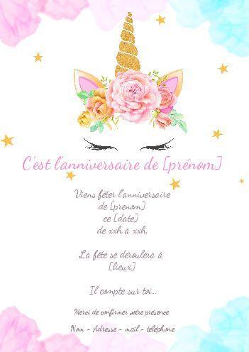Carte Invitation Anniversaire Enfant Rose Fille Gratuit A Imprimer Carte Cartes Invitation Anniversaire Enfant Carte Invitation Anniversaire Carte Invitation
