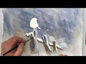Demo Aquarelle En Mouille Sur Mouille Wet On Wet Watercolor