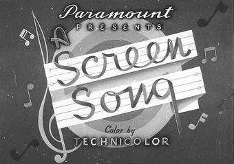 """1929-1938: """"Screen songs"""""""