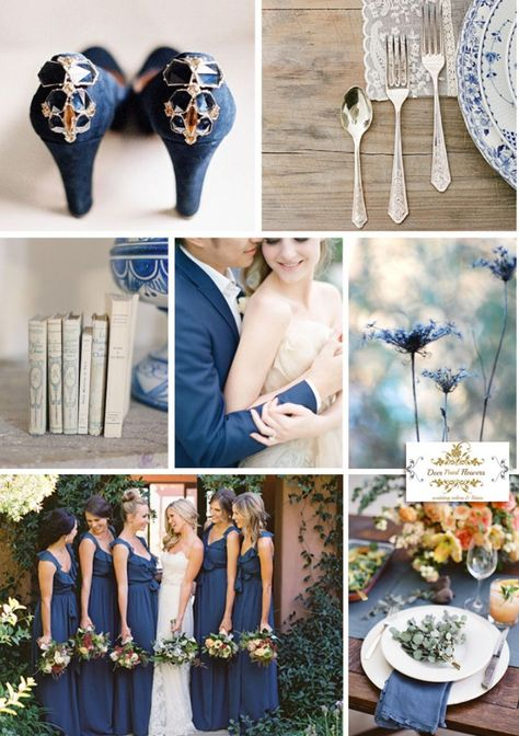 Blue and White Wedding Ideas - Pantone Classic-Blue wedding colors ideas 2015 spring