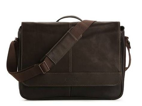 kenneth cole reaction leather messenger bag