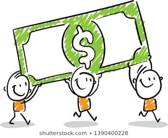 Group Of People With Dollar Money Isolated Vector Illustration Outline Hand Drawn Doodle Line Art Cartoon Design Charac Doodle People Doodles Doodle Designs