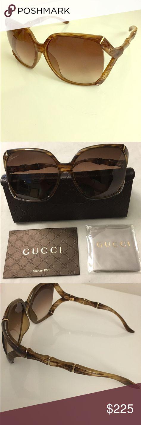 6ab3091e20f96 Gucci bamboo square sunglasses GG 3508 S authentic Gucci sunglasses ...