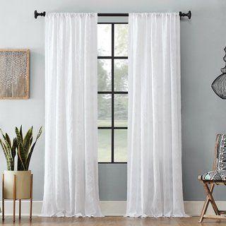 Archaeo Diamond Fray Cotton Single Curtain Panel 50 X 84 Gold