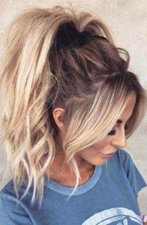 24 Ideas Hair Thin Temples For 2019 High Ponytail Hairstyles Messy Ponytail Hairstyles Hairstyles For Thin Hair