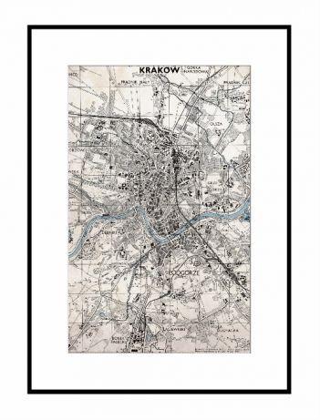 Plakat Mapy Polskich Miast Lodzi Krakowa Warszawy Torunia