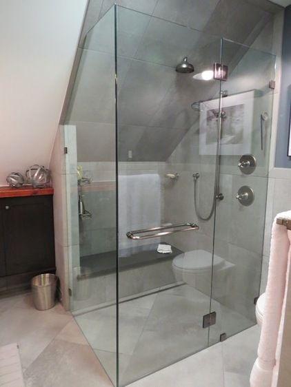 Industrial Bathroom by Robin Amorello, CKD CAPS - Atmoscaper Design