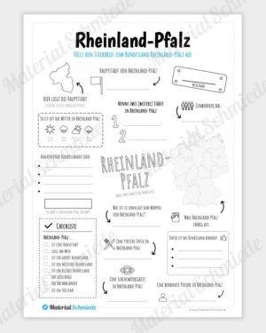 Steckbrief Rheinland Pfalz Rheinland Pfalz Pfalz Sachkunde