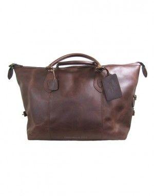 e52bd32725 Barbour Leather Medium Travel Explorer Bag - Dark Brown UBA0008BR71 (B623)
