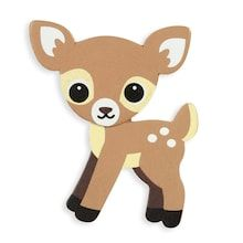 Painted Woodland Spotted Deer Cutout: 3 inches