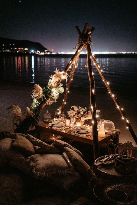 Evony + Miguel // Baja California Elopement by Romantic Date Night Ideas, Romantic Dates, Romantic Surprise, Romantic Picnics, Romantic Dinners, Romantic Travel, Tent Decorations, Wedding Decorations, Desi Wedding Decor