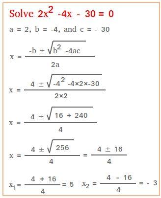 Solve Using The Quadratic Formula Quadratics Solving Quadratic Equations Quadratic Formula Quadratic function worksheets with