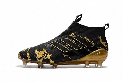 2018 FIFA World Cup Adidas ACE 17+ Purecontrol FG Black Gold