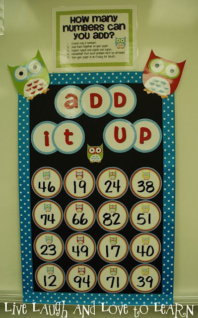 Add It Up - Like Boggle, but with numbers!  Students add any two numbers as many times as they can.
