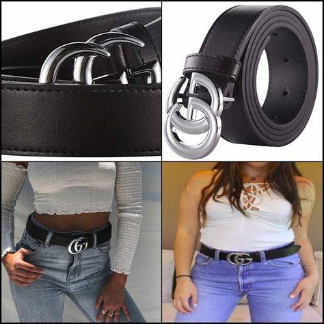 ec50c316977 Women GGenuine Leather Dress Belts Fashion Gucci Logo Pattern For Jeans  3.2cm W  Jalways