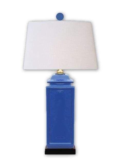 Navy Blue Jar Table Lamp Jar Table Lamp Linen Lamp Shades Lamp